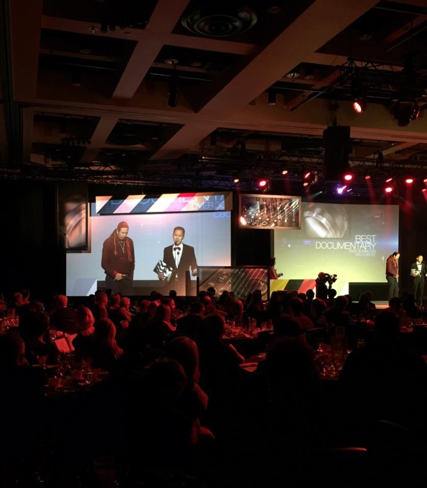 Chris and Cowboy at the awards