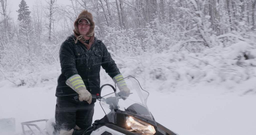 Robert on Snowmobile